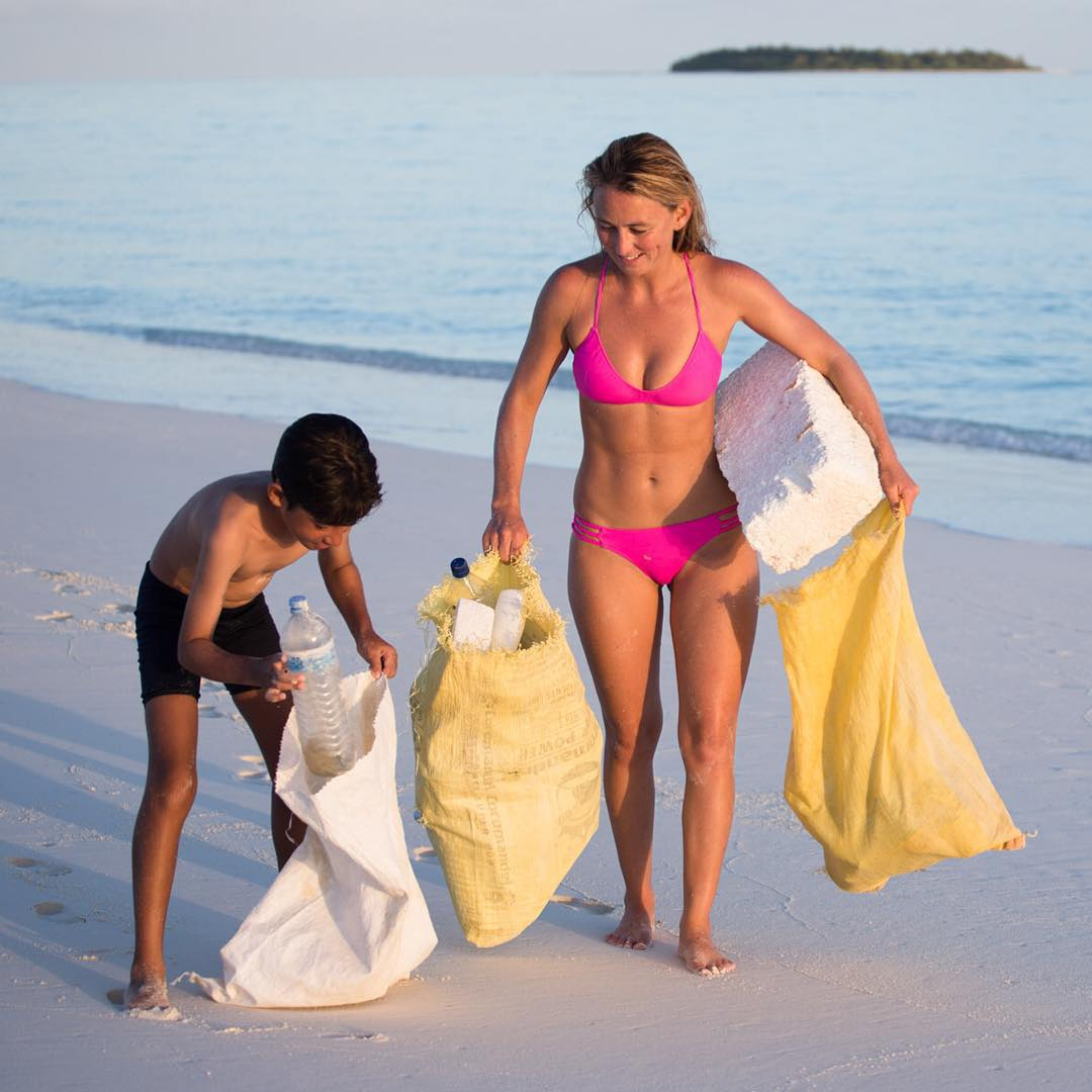 "Tomorrow is KID FRIENDLY! See you at @patagoniacardiff for the San Diego premiere of my latest film from the Maldives ""One Person's Trash Is Another Woman's Bikini!"" Doors open at 6pm and show starts at 7pm! (Friday Nov 6th)  Food, drink and fun!!!"