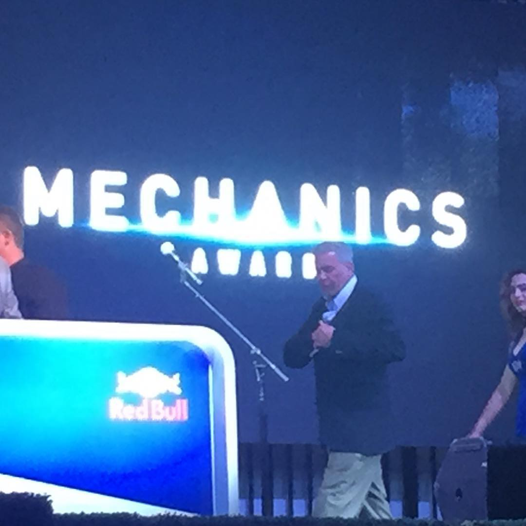 My crew chief #Lumpy winning the mechanics award at #Grc #rallycross . ✊✊