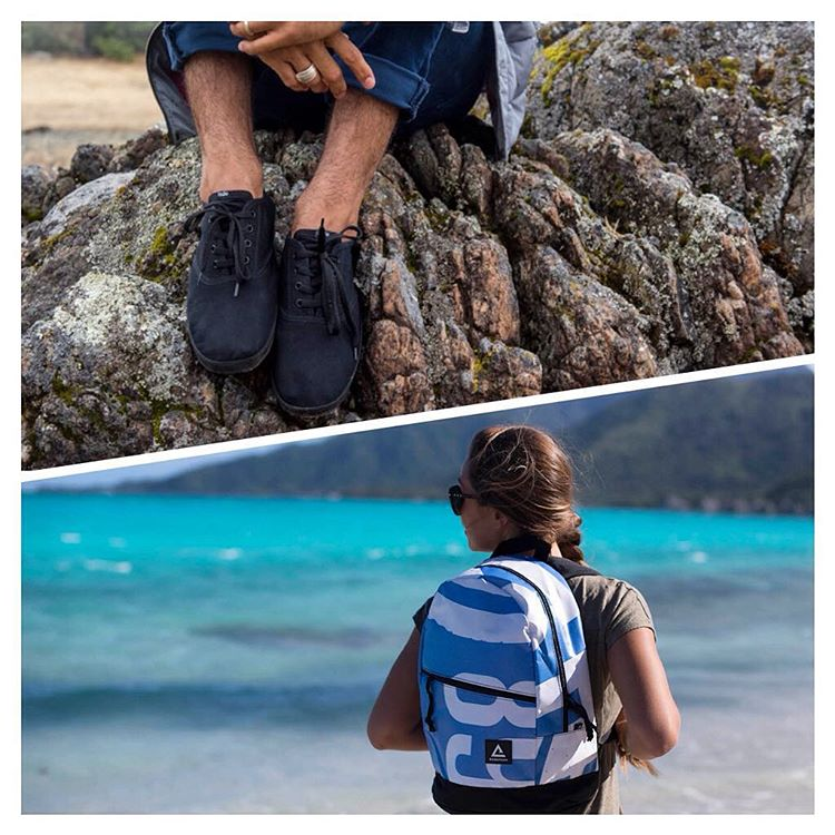 We're teaming up with Rareform, an outdoor gear brand making one-of-a-kind goods from upcycled billboards, for a GIVEAWAY. ⭐️ Enter to win their Rio backpack (unisex) and our #JJshoe (Men's classic black or Women's black palm panel). All you have to do...