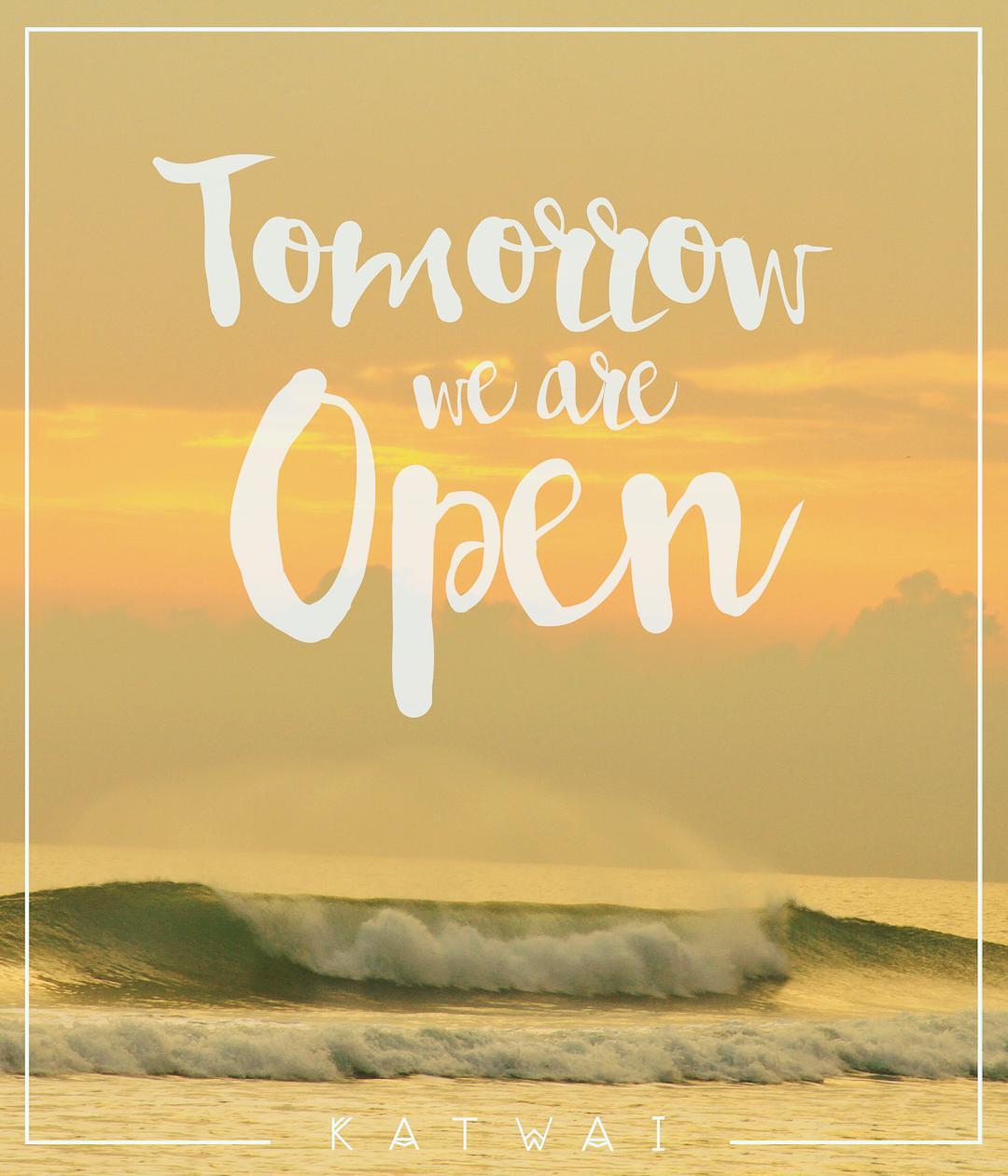 Tomorrow we are OPEN! 25%Off en tu Segunda Bikini Sab. 7 / 11-13hs / 16-19.30hs Gascón 83 - San Isidro - Bs.As.