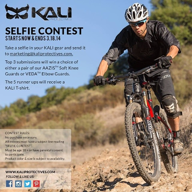 Kali Protectives SELFIE CONTEST. Don't miss out on FREE Kali gear! See above for details. #kaliprotectives #kalipro #kali #selfie #contest