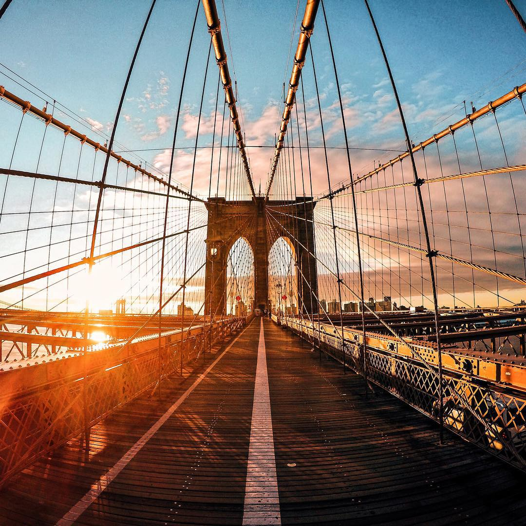 Photo of the Day! #HelloBrooklyn. Not a bad way to start a Friday. #