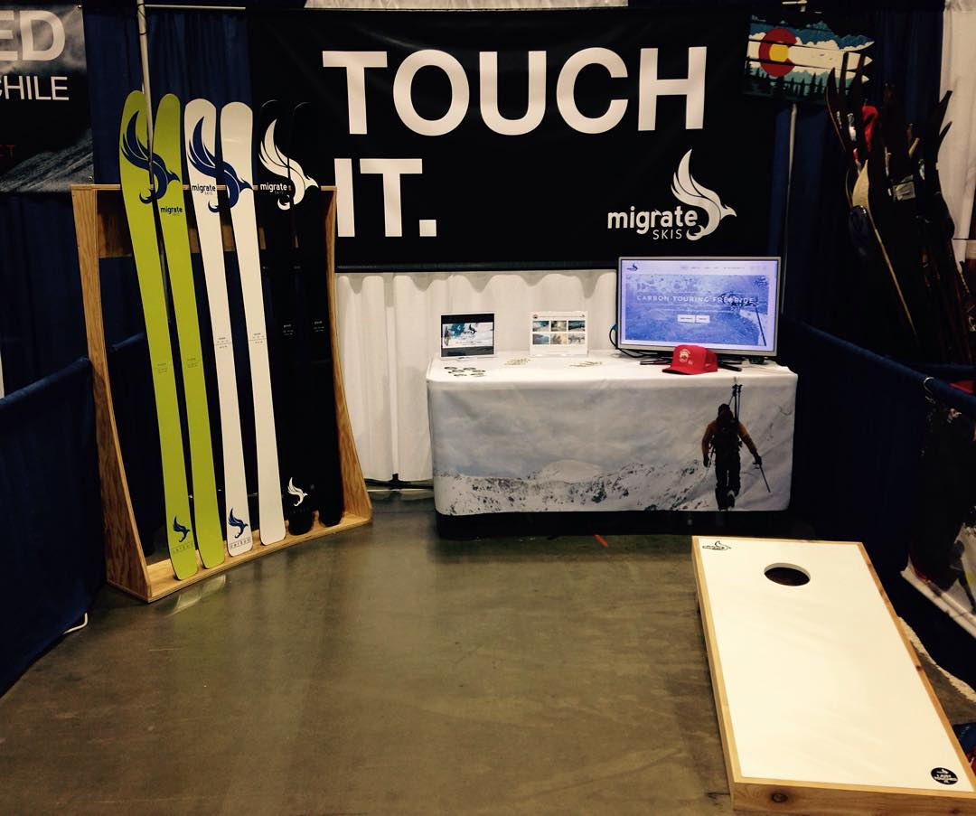 And we're ready!!! Come on down to the Colorado Convention Center for the Colorado Ski and Snowboard Expo!! Carbon fiber construction built to last with a 3 year warranty made right here in Denver!!! #skis #skiing #Colorado #Denver #backcountry...