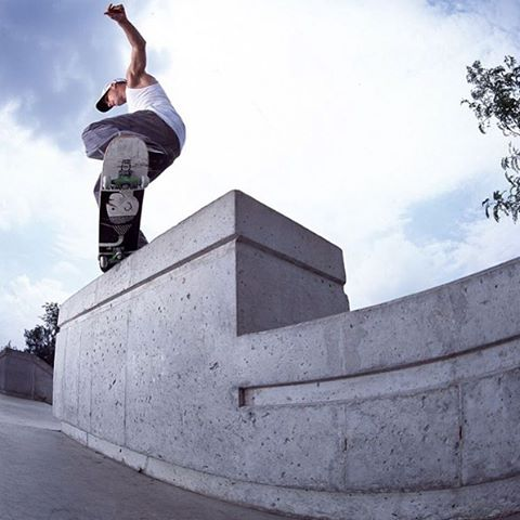 Today's #FlashbackFriday comes from from @robdyrdek. Check out this crooked grind at the very first skate plaza in Ohio that started it all. Photo: @blabacphoto. #dcshoes #robdyrdek