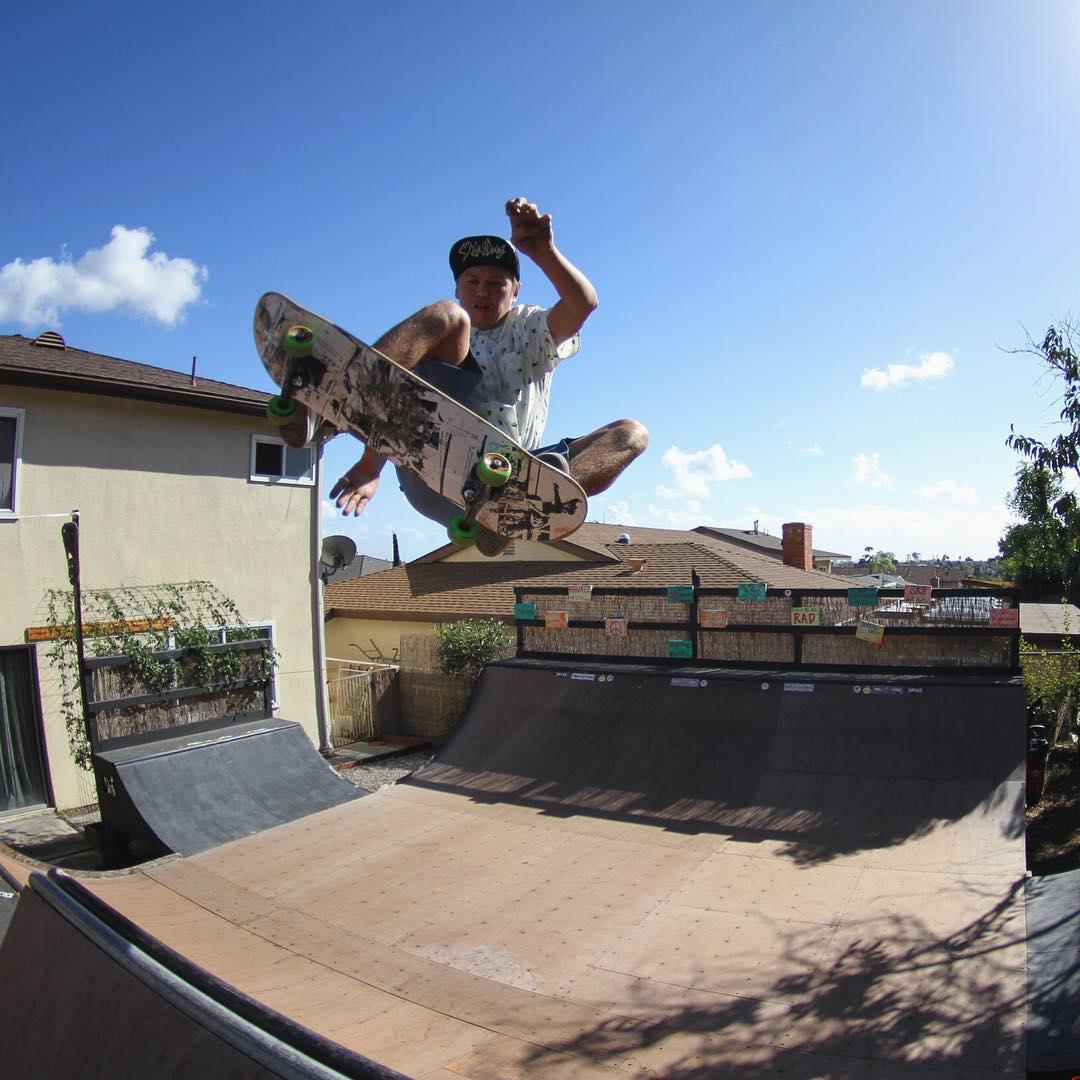 Hayden (@hayden92672) of @tunnelvisionsc blasting a frontside Ollie for a recent catalog shoot. #lostenterprises