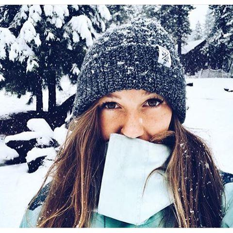It snowed in Tahoe! Flylow designer @winterdubs is finally getting to wear all the amazing gear she designed at the @tahoemill Flylow design lab with @flylowgreg  #embracethestorm | #flylowgear