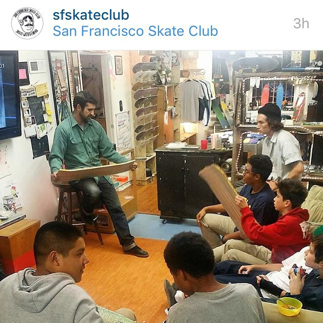 I'm super excited about the project we are doing with @sfskateclub The kids are going to develop a shape that will be sold exclusively at the Skate Club. All proceeds will go towards their next skate trip. Stay tuned for updates on their progress....