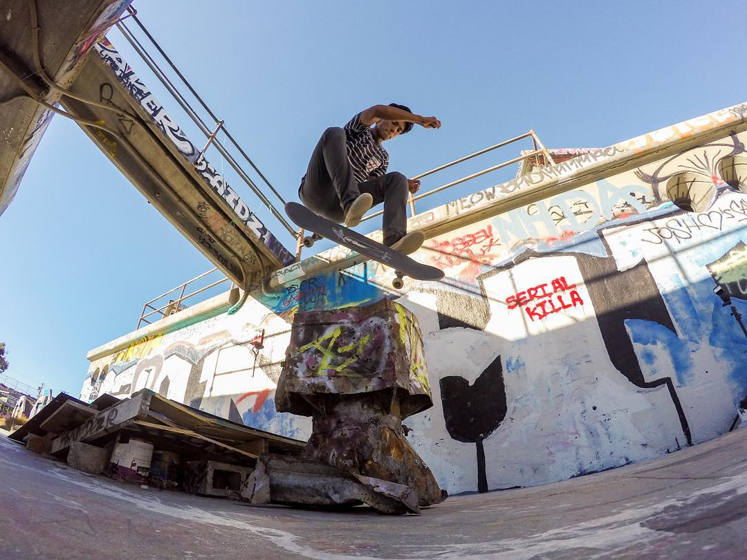GoPro featured Photographer and Skate Ambassador @nkavids  About the shot: This is an abandoned bunker in #SanPedro that we've been filming at lately. It had some really interesting set up and back drop of colorful graffiti and murals.  I had been...