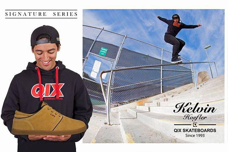 Pro Model QIX @kelvinhoefler - Conforto e durabilidade para qualquer sessão de skate. #promodelqix #qixteam #skateboardminhavida