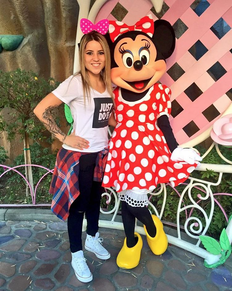"Three-time #XGames gold medalist @LeticiaBufoni is hangin' out at ""The Happiest Place On Earth!"""