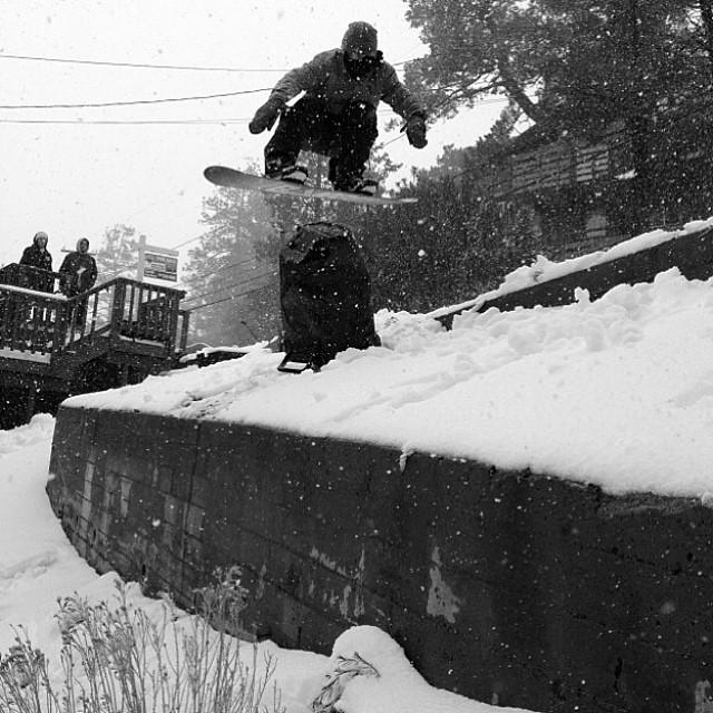 @leonard_mazzotti enjoying some of the fresh snow back home. #thefluxlife Photo: @satansdeathkult
