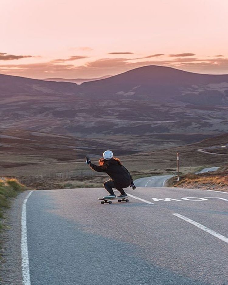 @longboard_girls_crew_uk rider @lynders. That road! Iain Wood photo.  #longboardgirlscrew #womensupportingwomen #lgc #skatelikeagirl #lyndsaymclaren