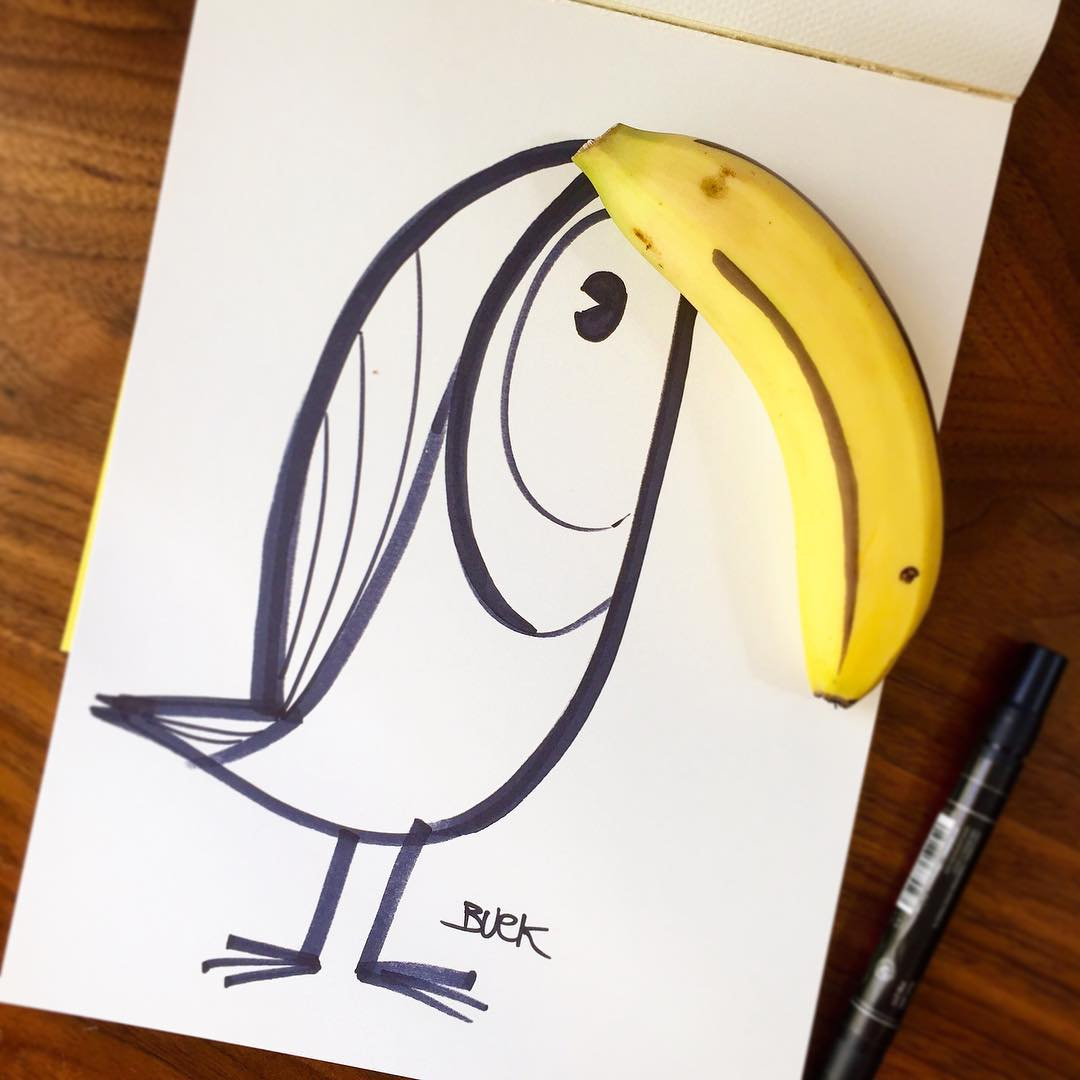 #Toucan play with your food if you want to! #Cuipo #SaveRainforest #FunnyFoodArt #