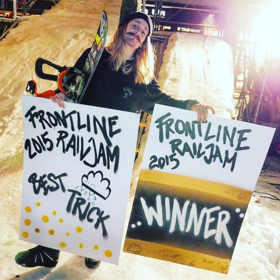 Huge congrats to our dude @hhelgason for taking the Frontline Rail Jam and getting Best  Trick in the baaaagggg! That's man stuff right there. Keep killing it buddy! #ElNiños #VonZipper #SupportWildLife