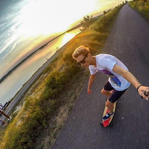 Coasting down the open road  @robert_kra rocking the SoCal frames  #Kameleonz #Longboarding #SundayFunday