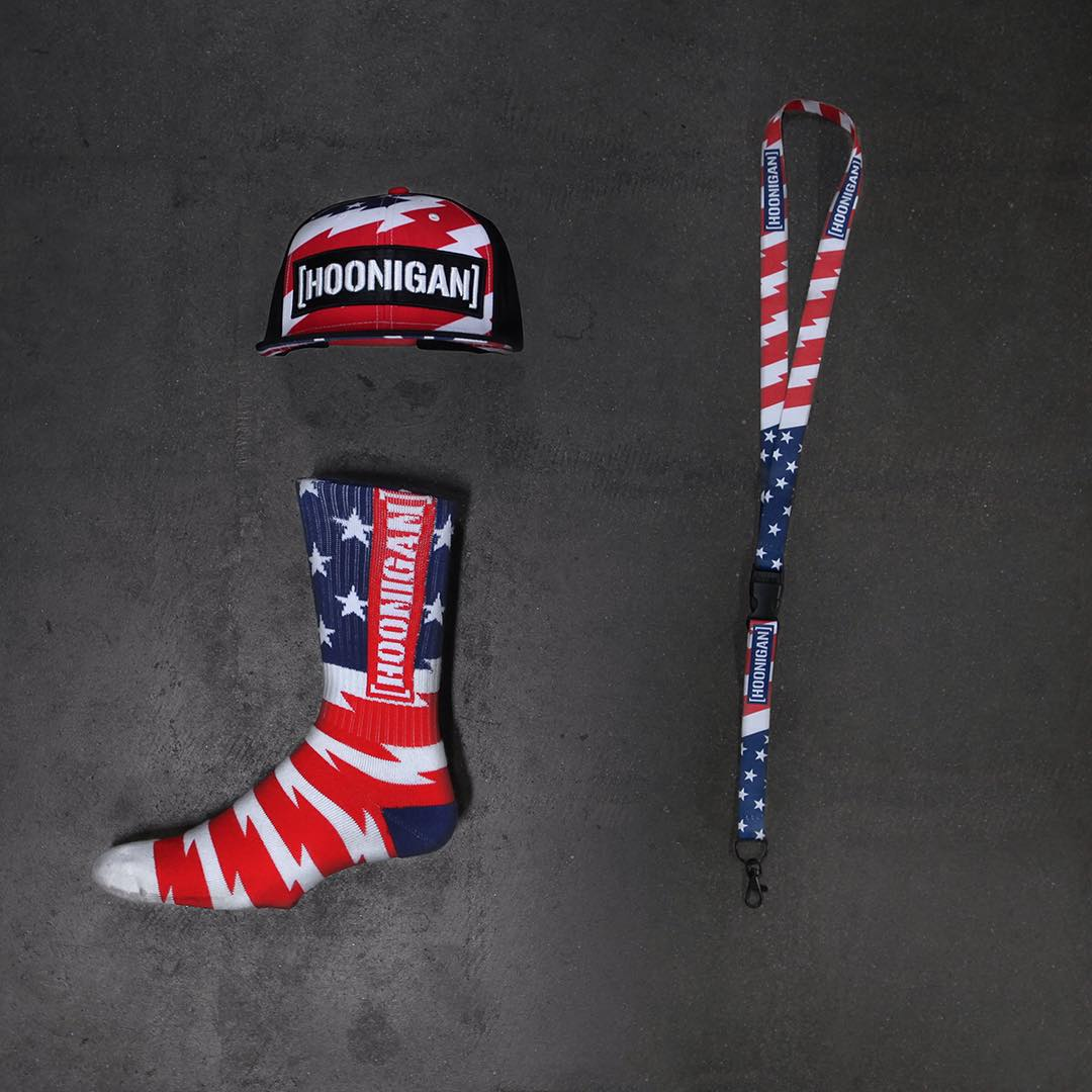Stars & Stripes accessories. Get em over at #hooniganDOTcom