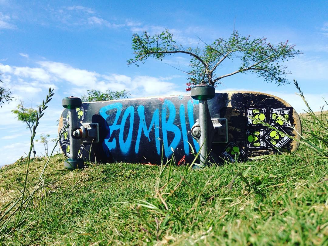 Zombie UR #skate #nature #skatepark #pixel #green