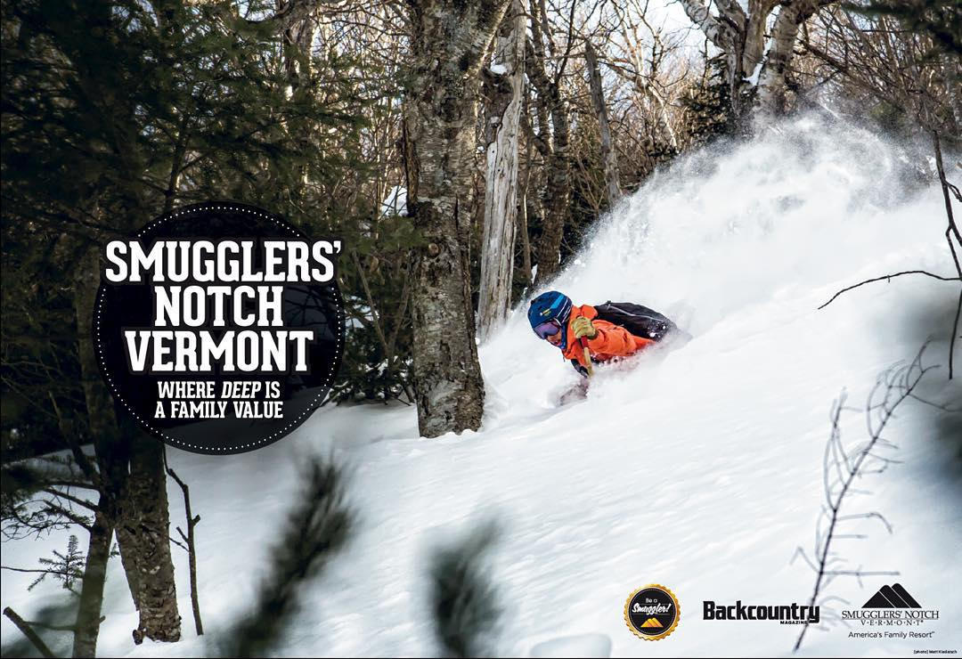 """Big ups to Panda """"Scout"""" Carter Snow on becoming the new poster boy for Smuggler's Notch, VT, by blasting this Class 4C #PANDALANCHE for Outside Media! BLAM!  #TribeUP Smugg's!  Photo: @outsidemedia  @cartersnowin  #PandaPoles #PandaTribe"""