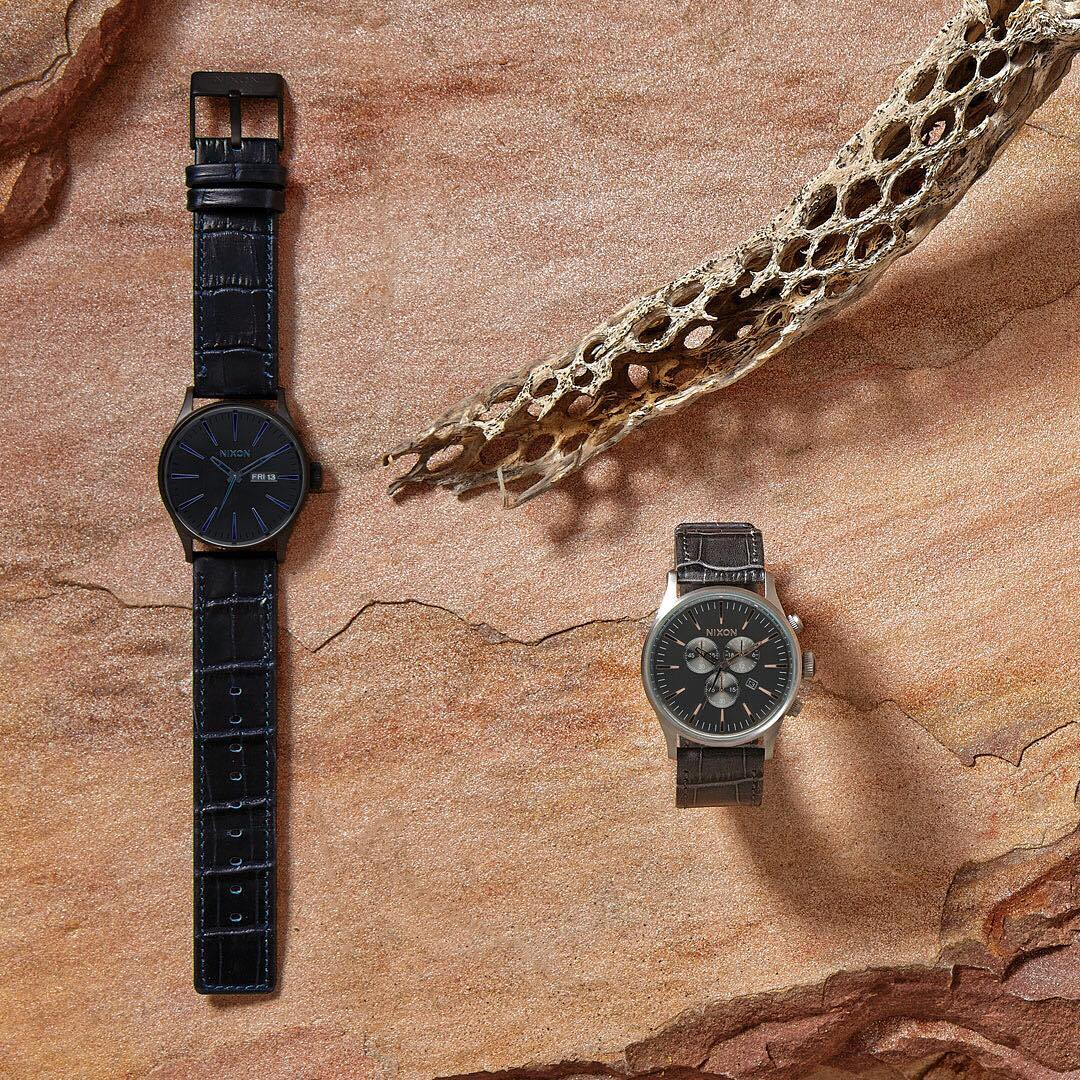 Some are born to roam free. The Animal Style Collection puts an exotic imprint on #Nixon favorites.  #SentryLeather #NixonNow