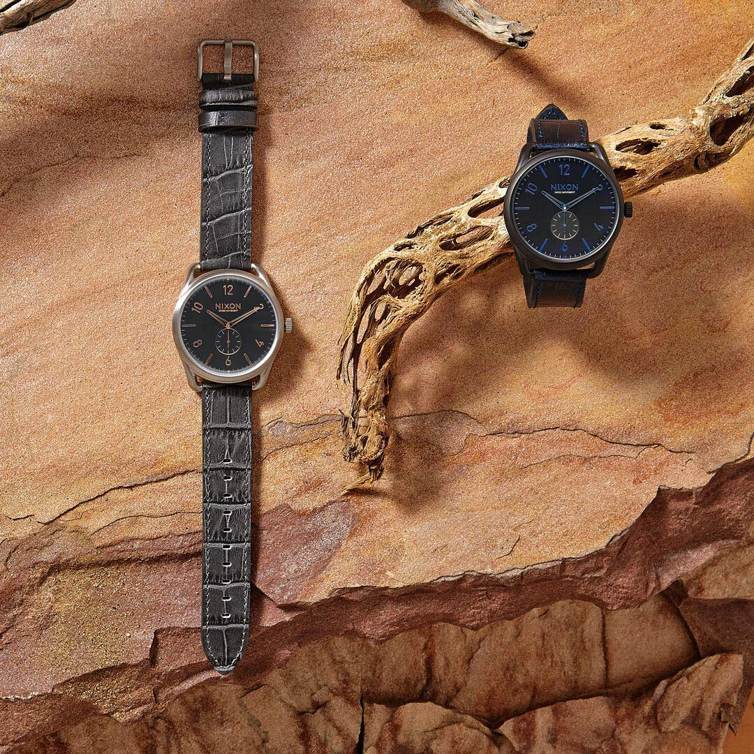 The Animal Style Collection is a rare breed. Detailed etching reflects gator leathers to create exotic textured bands for some of our favorite timepieces. #C45 #NixonNow