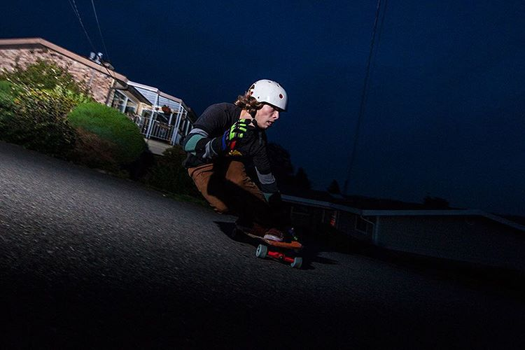 Repost from @skateslate featuring Devon Dotson (@devdot23) throwing it sideways with a steezy backside skid into the Seattle night.