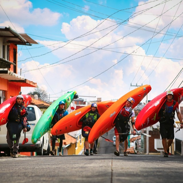 Meet your #FirstDescent Michoacan Expedition crew: @sethashworth,@juanitodeugarte,@rafaortizkayak,@danejacksonkayak, and @joelkowalski. Click the link in our profile to follow their journey through some of the gnarliest rides in Mexico.