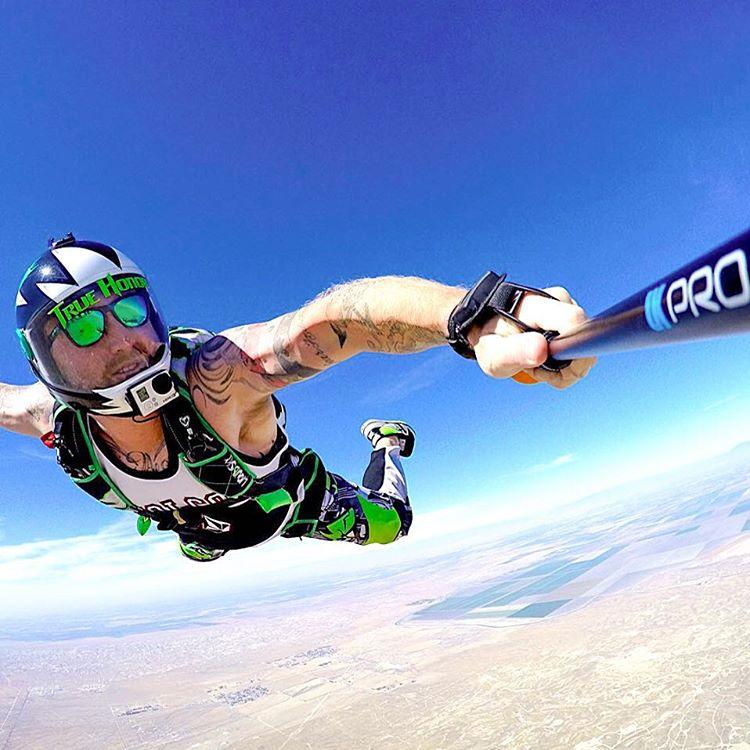 Sky high adventures  @griffinturner88 showcasing the Bali frames  #Kameleonz #Skydiving #Adventure