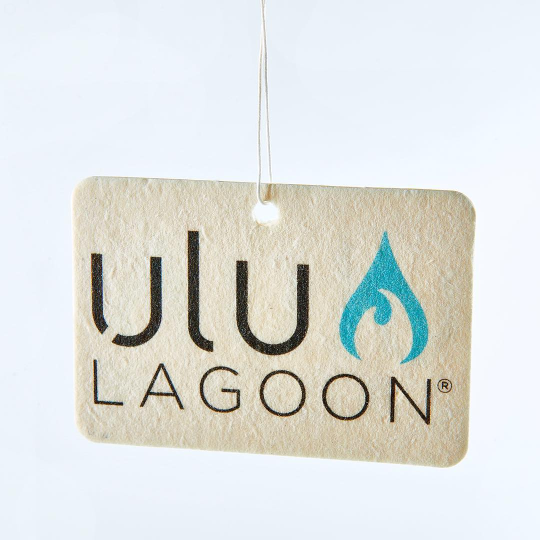 ulu LAGOON logo surf wax scented air freshener for those looking for that original feel.