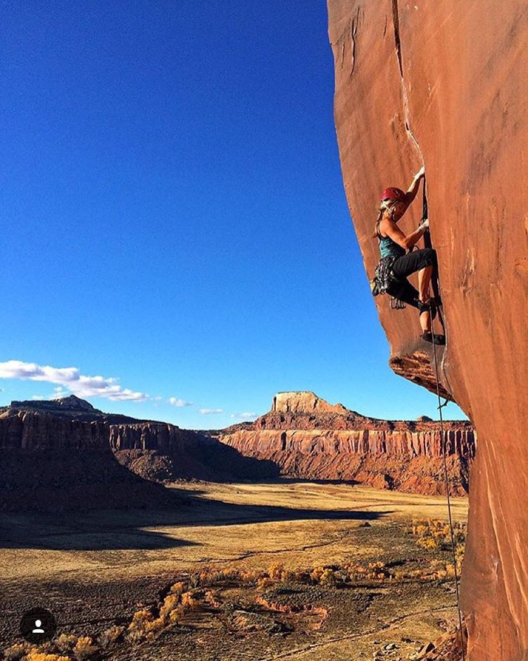 It's still climbing season in Moab! #AV7Artist @kyehalpin crushes Slice and Dice 5.12.