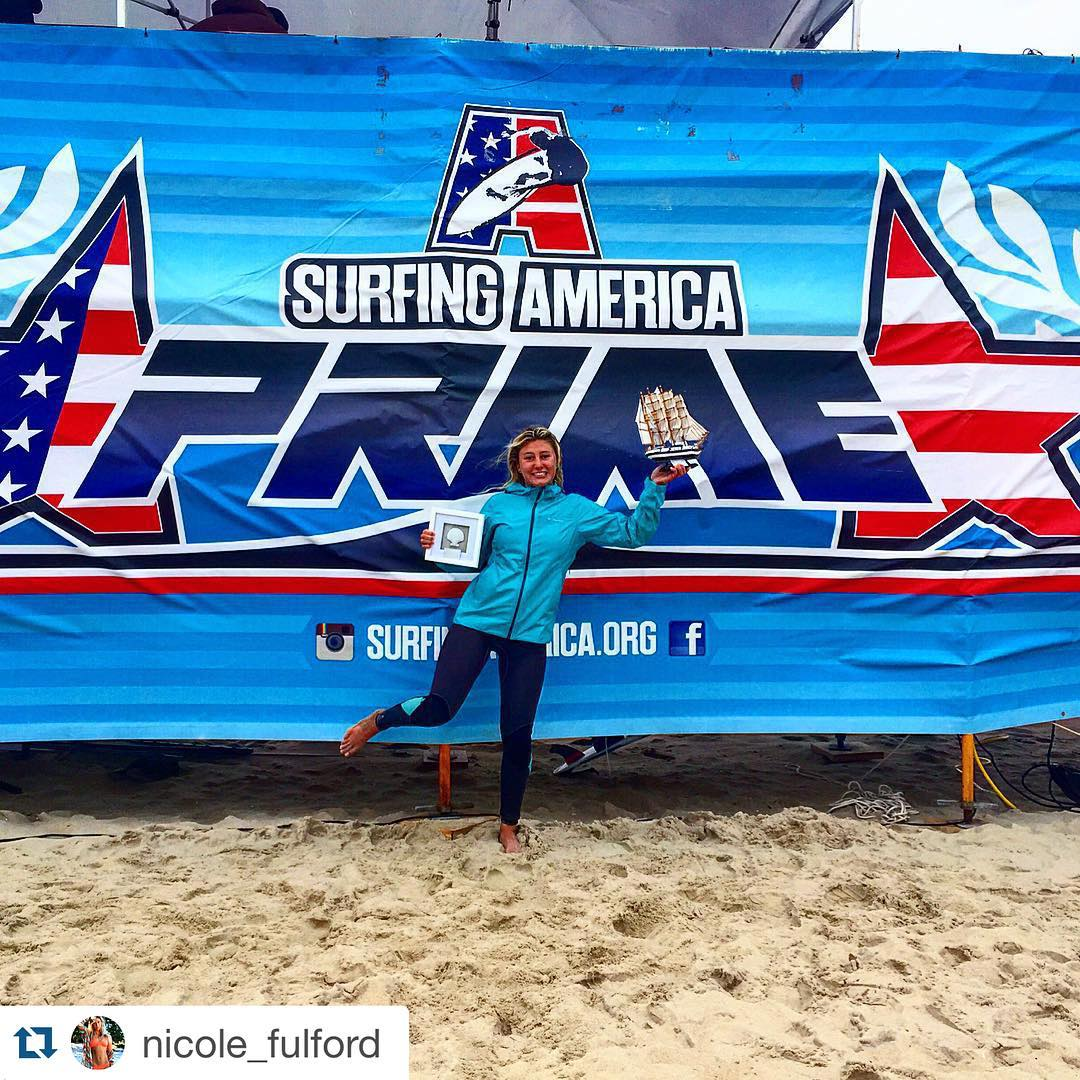 Congrats @nicole_fulford on a crazy amazing weekend at @surfingamerica prime!!! You are so incredibly talented!!!