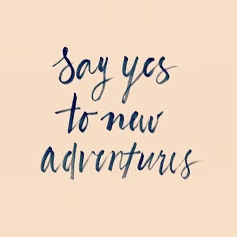 #mondaymantra #sayyes #jointheadventure