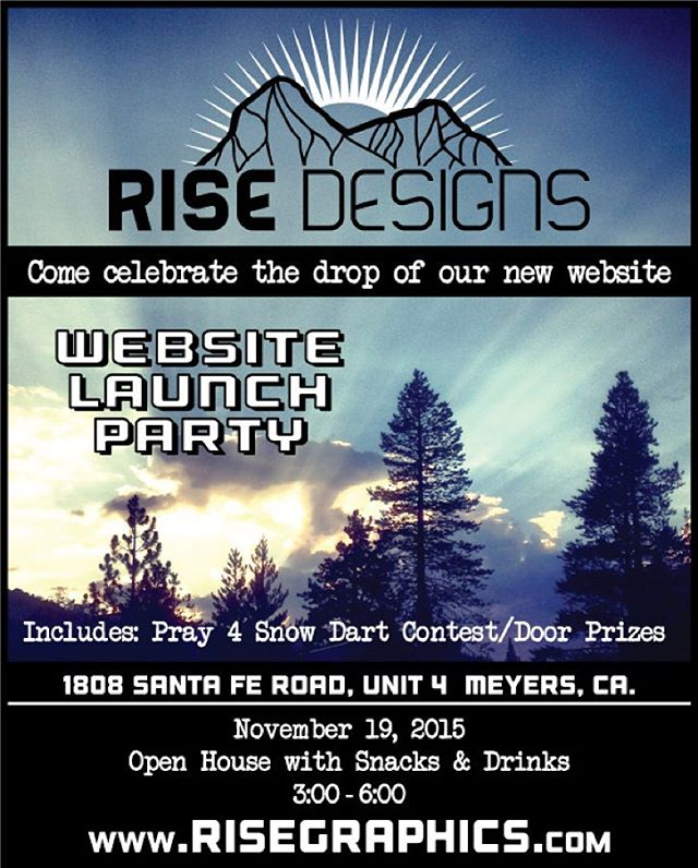 November 19th, come on by the shop and play in our competition and have a drink while we celebrate the launch of our new website. #risedesigns #drinksonus #freesnacks #darts #meyerspride