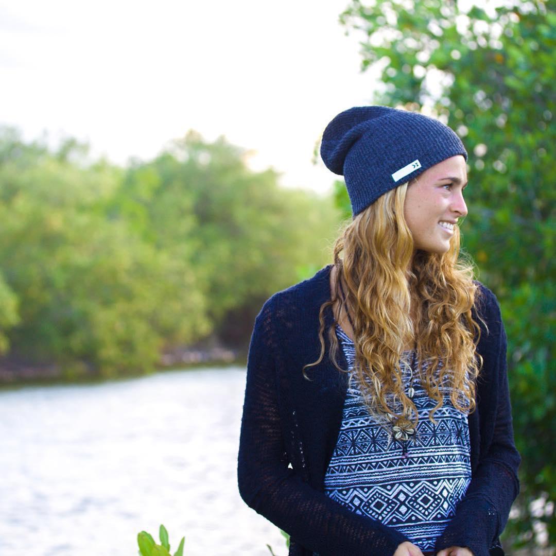 Gear up for beanie season  @amparomaluendez wearing the deep blue beanie  #Kameleonz #Rivers #Fall