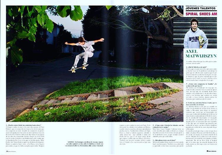 @axlmat en @revista_buenos_muchachos #SpiralSkateboarding #GoSkate #QualityShoes
