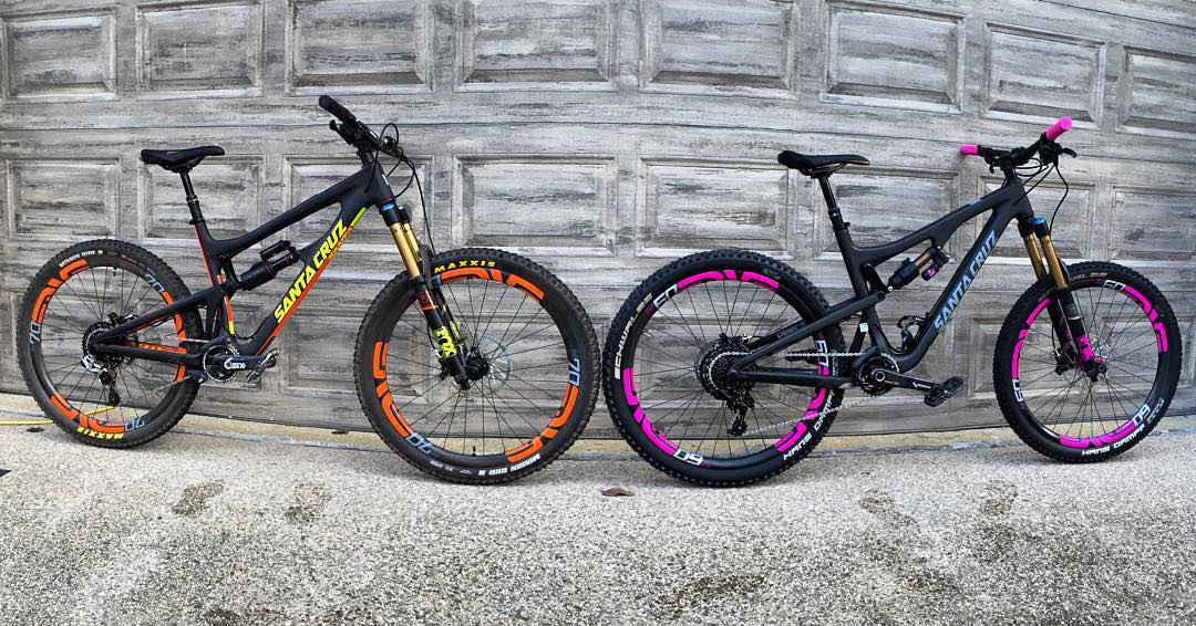 Decisions.....Decisions........Which one should I go get dirty today? #nomad #bronson2 #santacruz #bronson #mtb #shredtime #santacruzbicycles #santacruzbikes