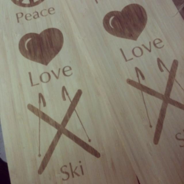 Inspirational custom top sheet #peace #love #ski