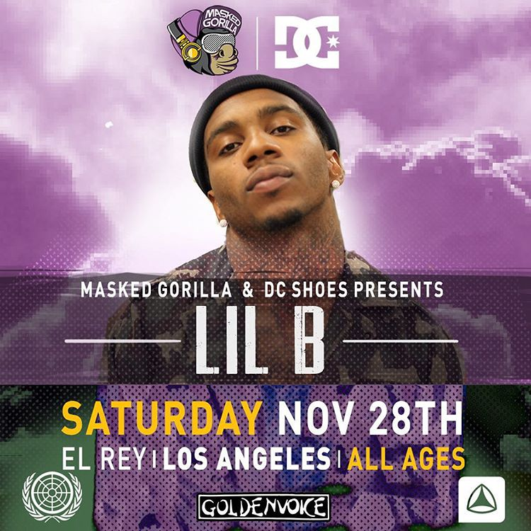 After a summer of sold out concerts @MaskedGorilla & DC UNMASKED Concert Series is closing out 2015 with our biggest concert ever! We're proud to announce that underground rapper/ cult icon Lil B will be performing at UNMASKED on Saturday November 28th...