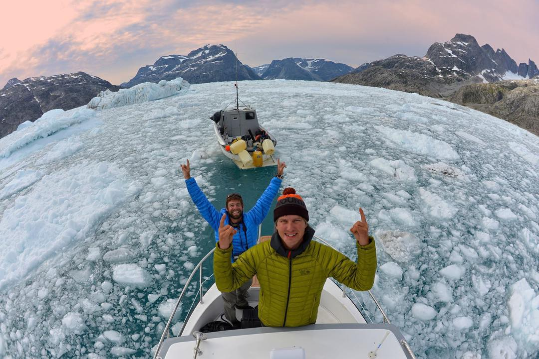 Undeterred by polar bears, weather and sea ice, ASC athlete @mikelibecki and @andy_mann explore virgin earth on #Greenland's east coast.  Without mystery there is no #adventure.
