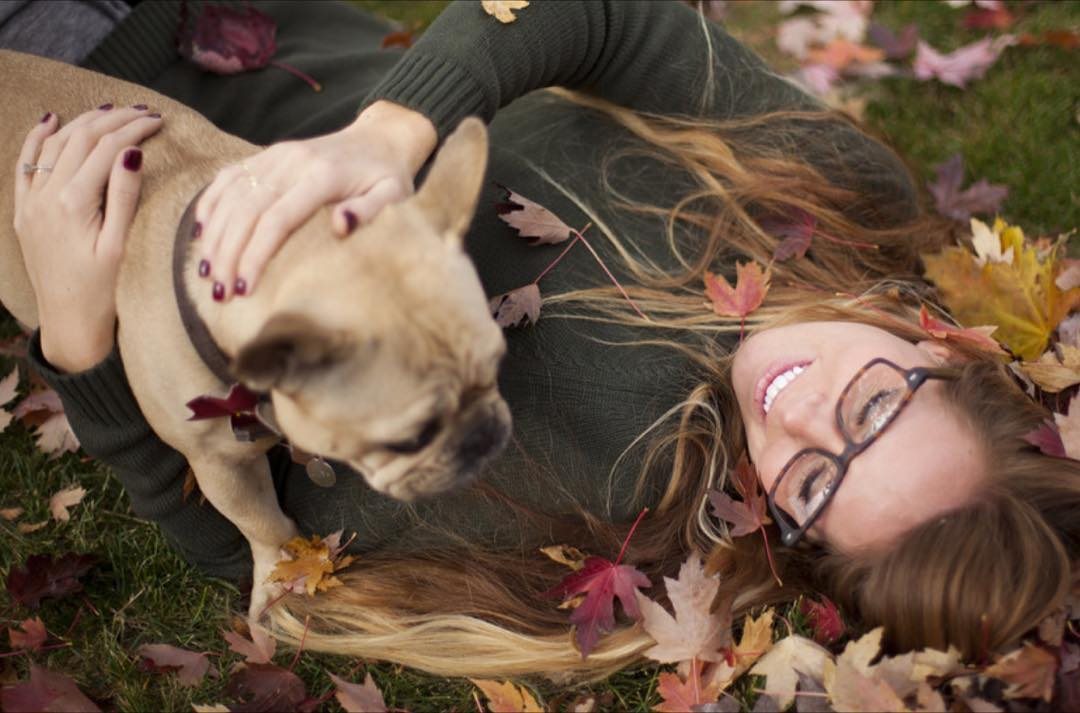 @darlenedame & our Chief Happiness Officer, Cuba, embracing fall - the video in our last post will leaf you wanting to play