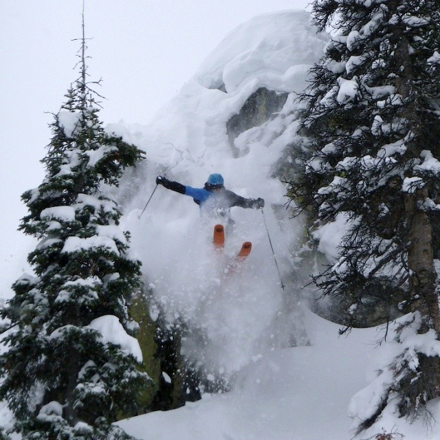A Grace customer sending it big on #Kylie at Jackson Hole #orangehot #bigwinter