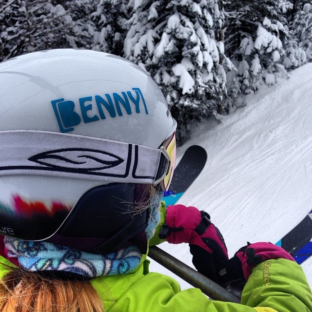 One of the best sites from the 2014 FAT ski a THON | #Benny Stickers on almost all the helmets, #TeamBenny