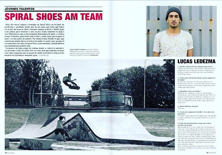 @lucasvampirledezma en @revista_buenos_muchachos #SpiralSkateboarding #GoSkate #QualityShoes