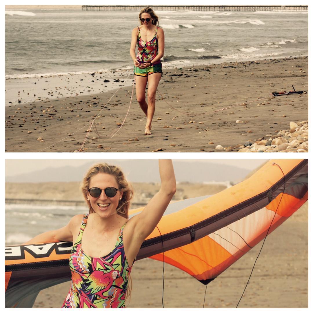 Wind lover ✨@paulahastrup #katwai #swimwear #kitesurf #summer #parrotjungleprint