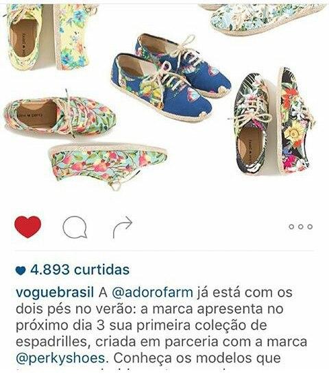 @adorofarm Brasil creo una línea exclusiva junto a @perkyshoes . Les dejamos esta exquisita nota de @voguebrasil .