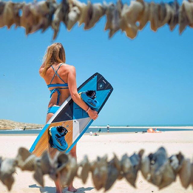 #bikini & board coordination at its best. @malinamle #style #travel #kiteboarding #teamsensi #jointheadventure