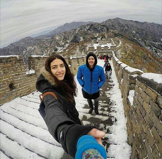 @mia___pm con su #ZephyrPole desde la #MurallaChina!