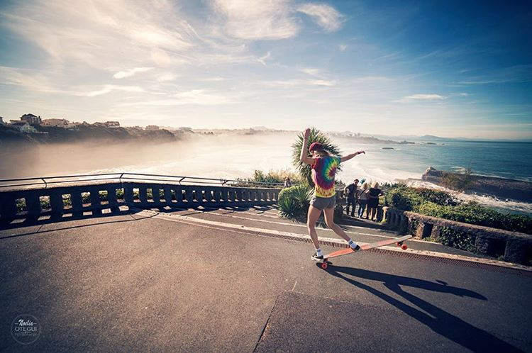 YEAH FEMKE!  Our LGC The Netherlands Ambassador @femkebosma shot by the amazing @noelia_otegui during our trip in Southern France. Awesomeness!  #longboardgirlscrew #4GBouygues #womensupportingwomen #skatelikeagirl #Biarritz #skate #FemkeBosma...