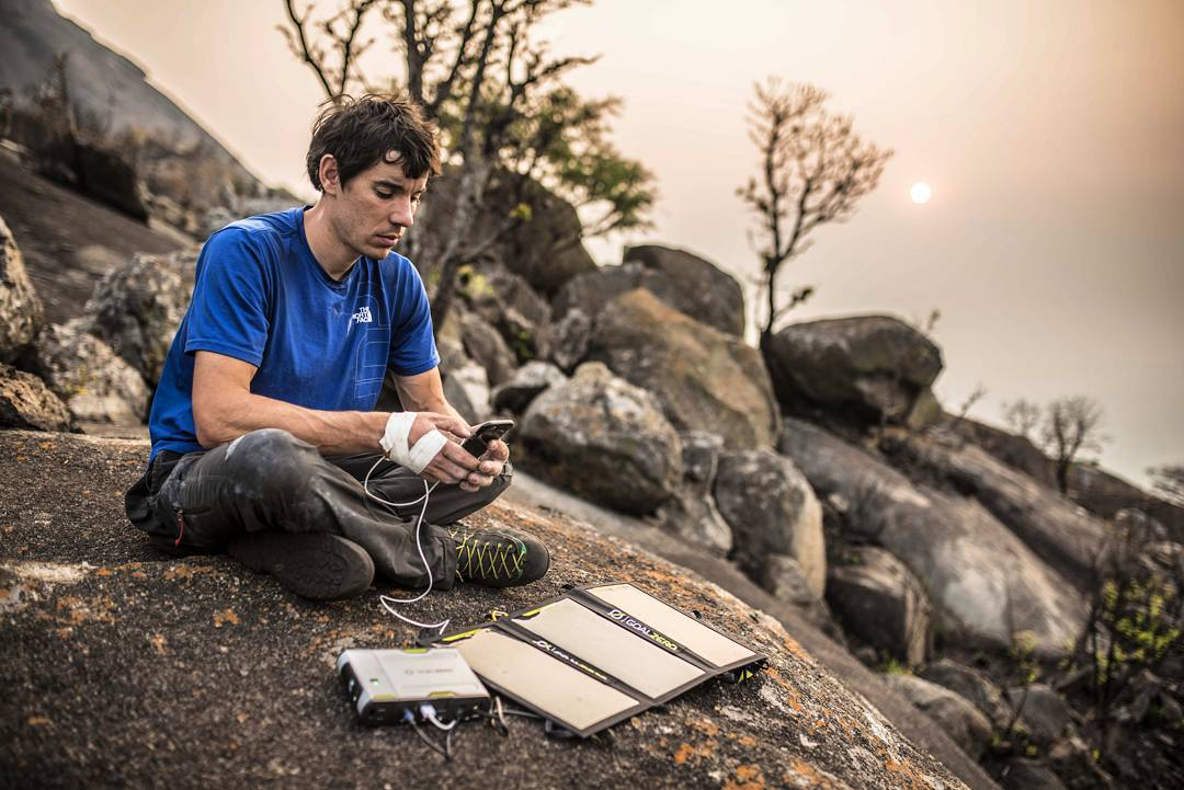 "//Angola 3// ""Fittingly, our own expedition was largely powered by the sun: equipped with lightweight Goal Zero setup our climbing team was able to charge our drill to keep bolting new routes; power phones, cameras, and computers along the way; and..."