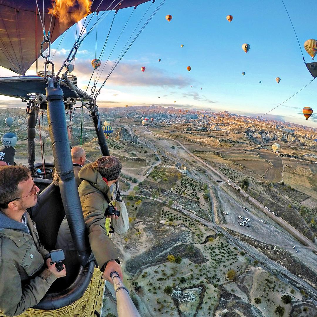 Hot air balloon ride over Turkey. Photo: @dimi_vog GoPro HERO4 | GoPole Reach #gopro #hero4 #gopole #gopolereach #hotairballoon