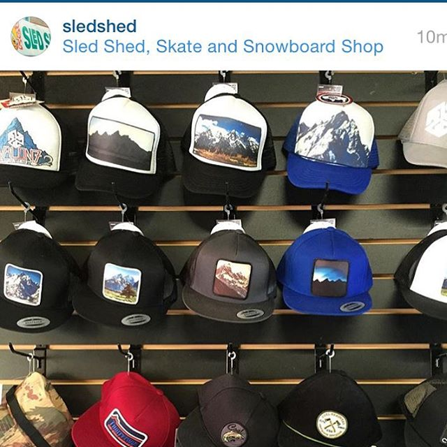@sledshed is all stocked up with some fresh #AVALON7 snapbacks and such! Stop by and pick one up. Handcrafted in the Tetons by yours truly. #liveactivated #snapbacks www.avalon7.co